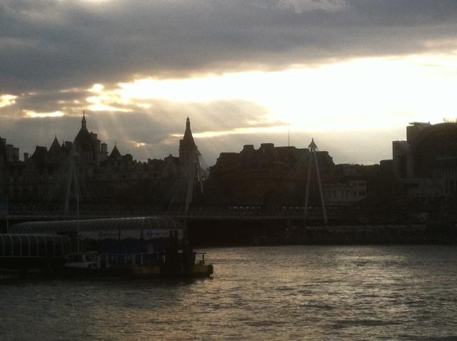 הנוף ממתחם ה-BFI אל עבר מרכז לונדון